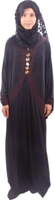 Muslimkart AY8962-10 Lycra Solid Abaya Yes