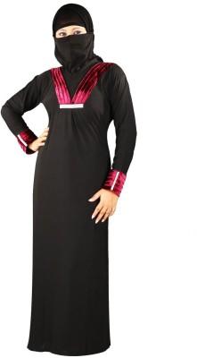 Hawai WB123 Polyester Self Design Burqa Yes