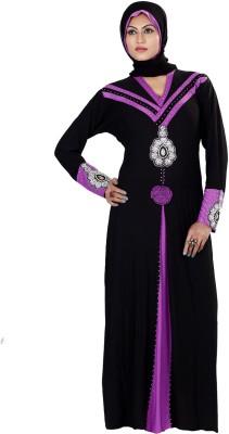 Saree Exotica 3055BK1468 Lycra Printed Abaya Yes