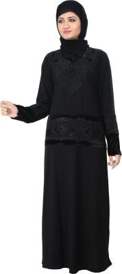 Nargis NARB1 Lycra Crepe Self Design Burqa Yes