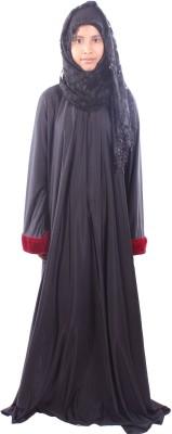 Muslimkart AY8931-10 Lycra Solid Abaya Yes