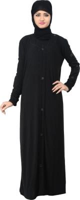 Nargis NARB15 Lycra Crepe Self Design Burqa Yes