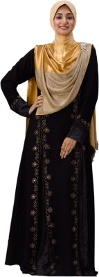 Parvin 3121L Georgette, Satin Solid Burqa No