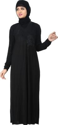 Nargis NARB12 Lycra Crepe Self Design Burqa Yes