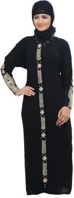 Nargis NARBUR4 Lycra, Crepe Self Design Burqa Yes