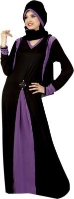 Saree Exotica 14400 Lycra, Crepe Self Design Abaya Yes