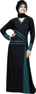 Saree Exotica 14510 Lycra, Crepe Self Design Abaya Yes