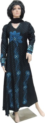 Shamim Collection FKBQ01007 print satin, pilot Solid Abaya Yes