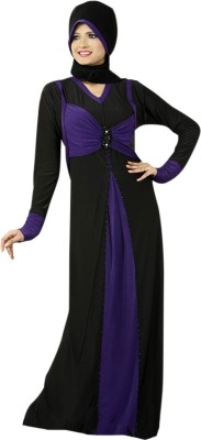 Saree Exotica 14450 Lycra, Crepe Self Design Abaya Yes