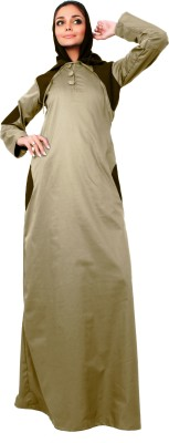 Islamic Attire AB_ISA_0026 100% Cotton Twill Solid Abaya No