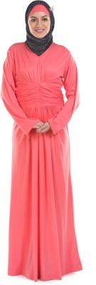 Momin Libas A 47-14 Poly Knit Abaya No(Pink)