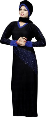 Saree Exotica 14500 Lycra, Crepe Self Design Abaya Yes