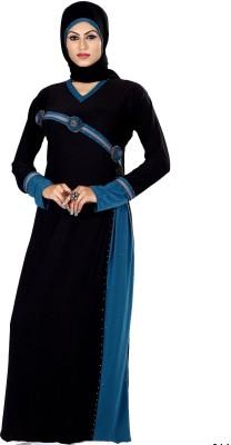 Saree Exotica 3055BK1516 Lycra Printed Abaya Yes