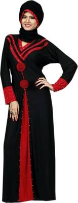 Saree Exotica 14480 Lycra, Crepe Self Design Abaya Yes