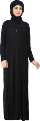 Nargis NARB13 Lycra Crepe Self Design Burqa Yes