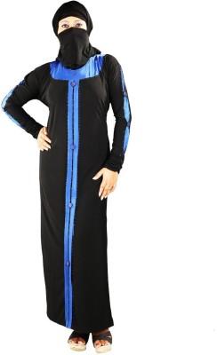 Hawai WB121 Polyester Self Design Burqa Yes