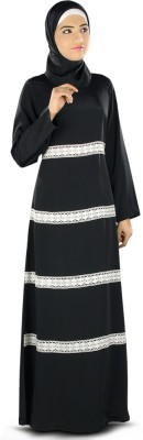 MyBatua AY-327-M Crepe Self Design Abaya Yes