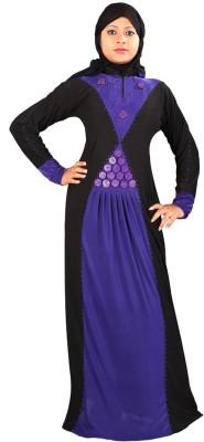 Hawai WB00077 Lycra Self Design Burqa Yes(Black)