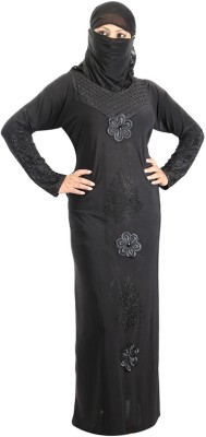 Hawai WB00270 Lycra Self Design Burqa Yes