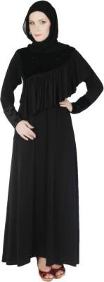 Islamic Attire Bahiyyah Polyester Solid Abaya No
