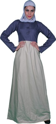 Islamic Attire Lunah Cotton twill Solid Abaya No