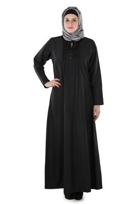 Momin Libas AK1711 Polyester Abaya No(Black)