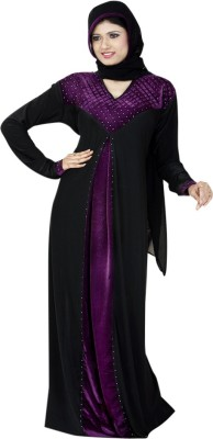 Saree Exotica 14360 Lycra, Crepe Self Design Abaya Yes