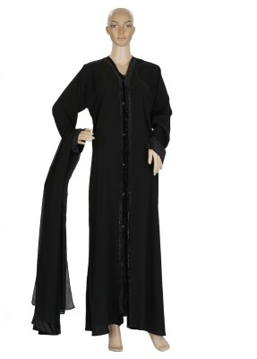 Hijab Studio HSBBR062 Firdous Solid Burqa Yes