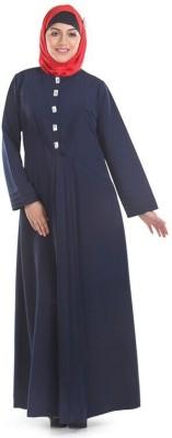 Momin Libas AK1614 Kashibo Solid Abaya No(Blue)
