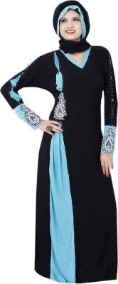 Saree Exotica 14570 Lycra, Crepe Self Design Abaya Yes