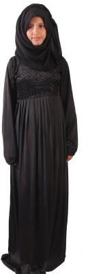 Muslimkart AY8774-10 Lycra Solid Abaya Yes