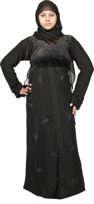 Hawai WB00286 Lycra Self Design Burqa Yes(Black)