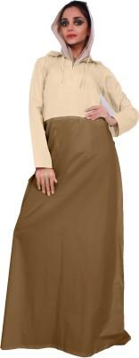 Islamic Attire Naflah Cotton twill Solid Abaya No