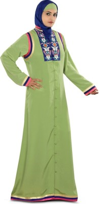 My Batua AY-251-M Crepe Self Design Abaya Yes