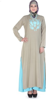 Momin Libas AC5741 poly crepe Solid Abaya No