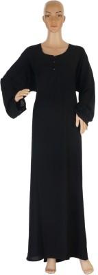 Hijab Studio HSB028HB Polyester Striped Solid Abaya No