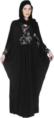 Islamic Attire Mounia Polyester Solid Abaya No