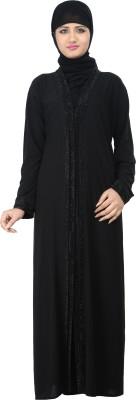 Nargis NARB18 Lycra Crepe Self Design Burqa Yes