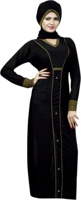 Saree Exotica 14550 Lycra, Crepe Self Design Abaya Yes