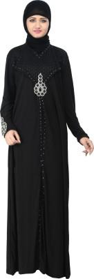 Nargis NARB20 Lycra Crepe Self Design Burqa Yes