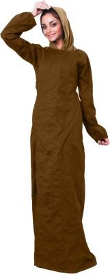Islamic Attire AB_ISA_0028 100% Cotton Twill Solid Abaya No