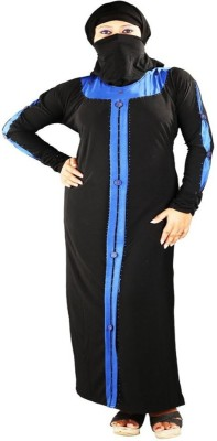AravFashion ABblackk78o78 Crepe Burqa Yes