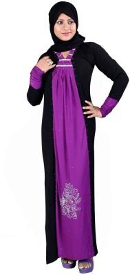 Hawai WB00070 Lycra Self Design Burqa Yes