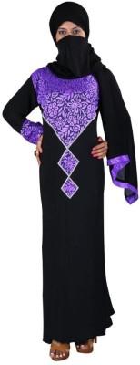 Hawai WB00055 Lycra Self Design Burqa Yes