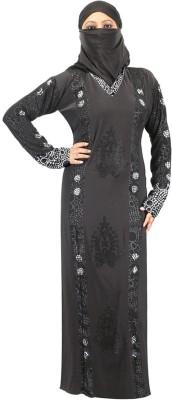 Hawai WB00261 Crepe Self Design Burqa Yes