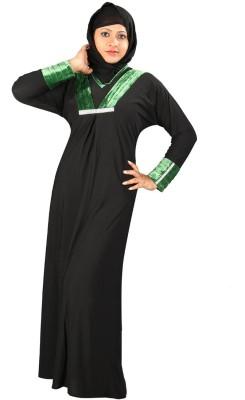 Hawai WB00082 Firdous Self Design Burqa Yes(Black)