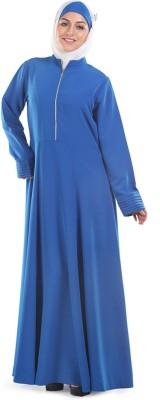 Momin Libas AK0914 Kashibo Solid Abaya No(Blue)