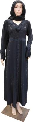 Shamim Collection FKBQ01021 Lyckra Solid Abaya Yes