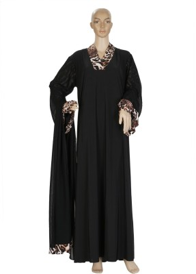 Hijab Studio HSBSNK059 Jersey Solid Burqa Yes