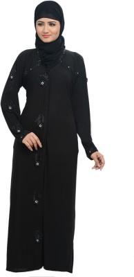 Nargis NARBUR20 Lycra, Crepe Self Design Burqa Yes